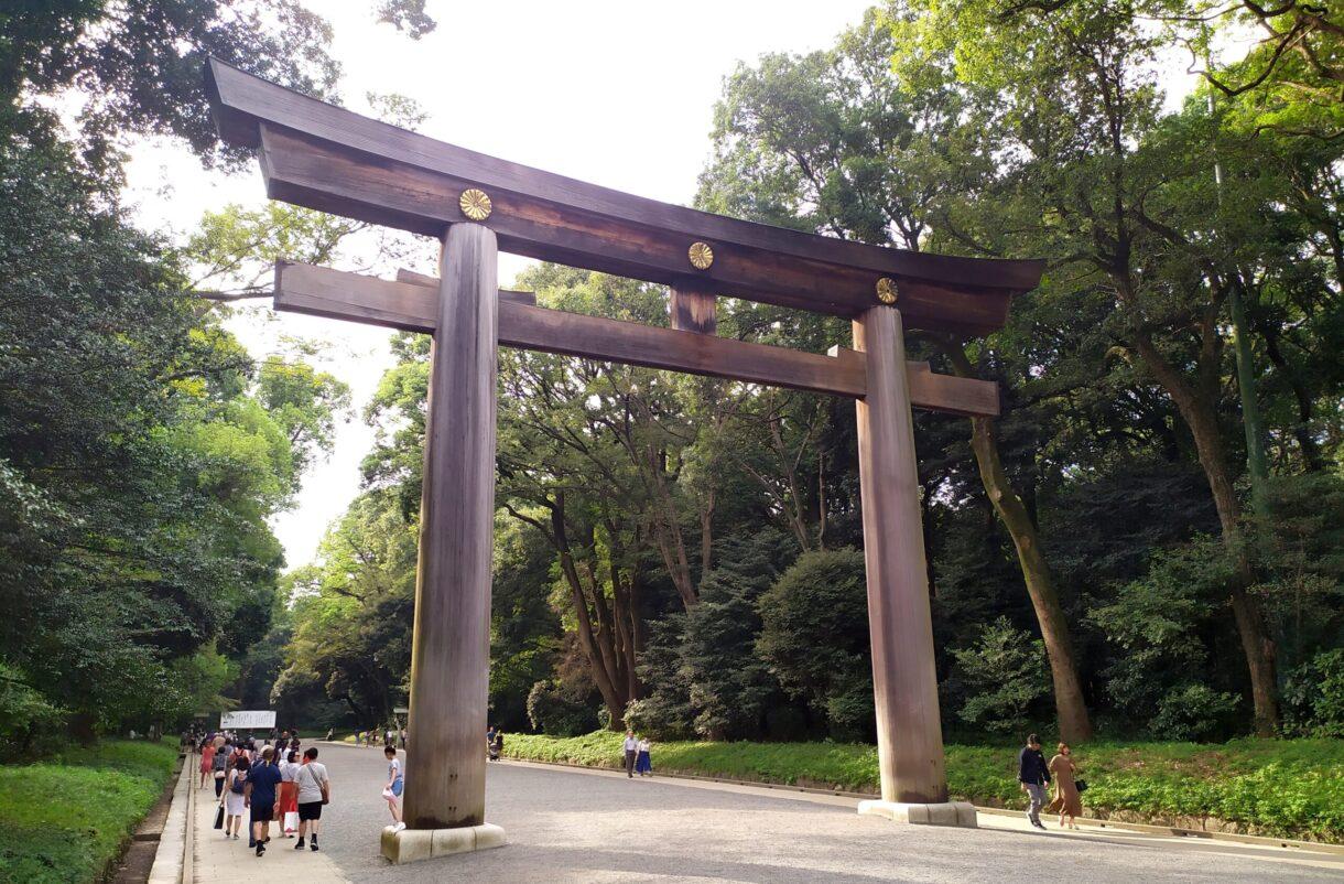 Torii del Santuario Meiji en el Parque Yoyogi de Tokyo