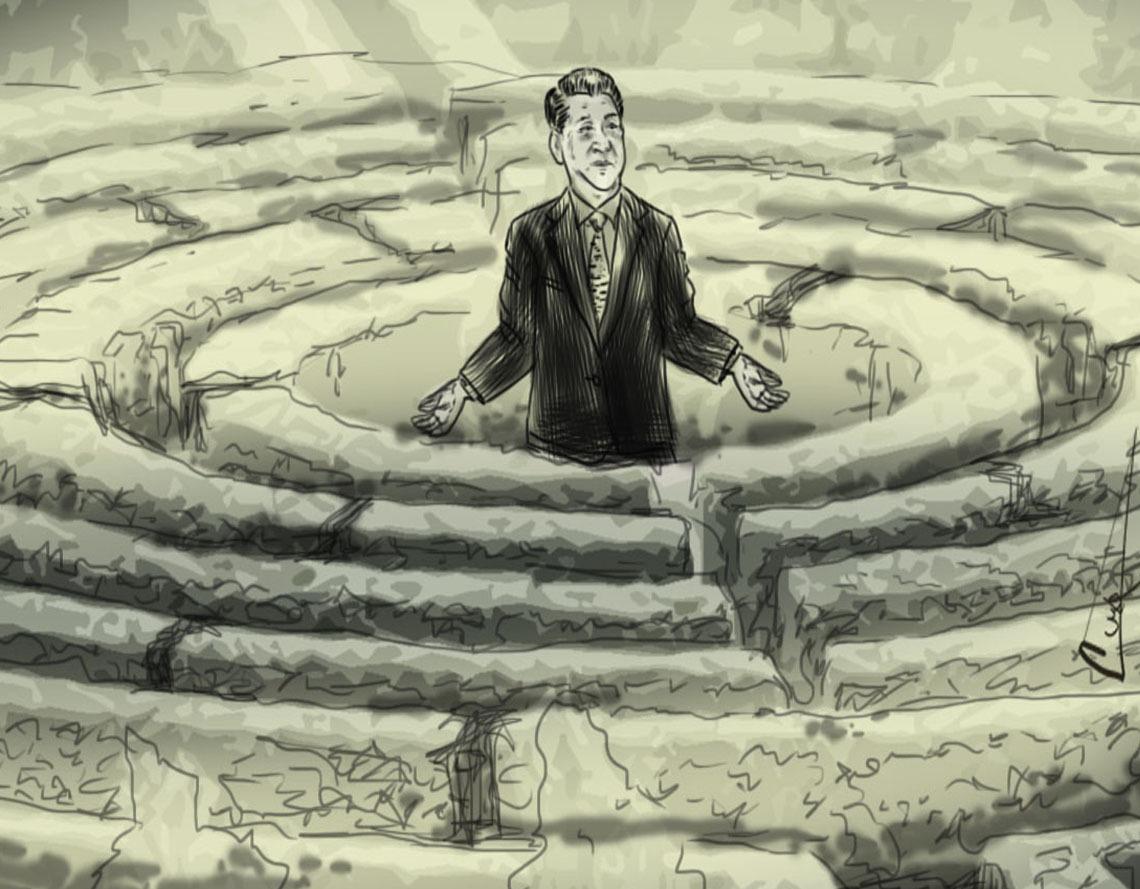 Xi Jingping en su laberinto