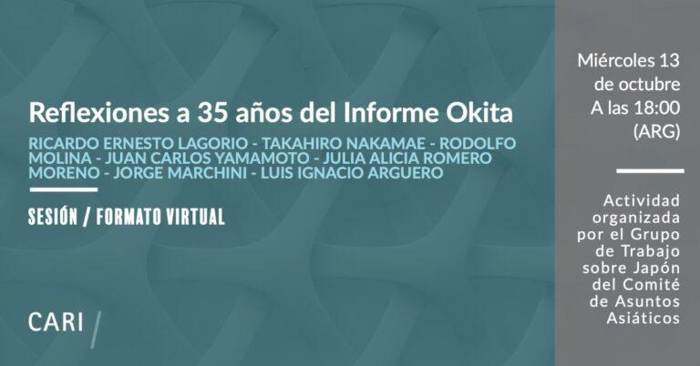 """""""Reflexiones a 35 años del Informe Okita"""" (ARG)"""