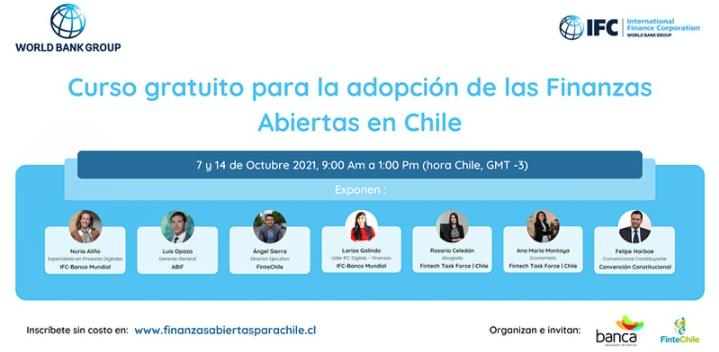 Curso gratuito para la adopción de las Finanzas Abiertas en Chile