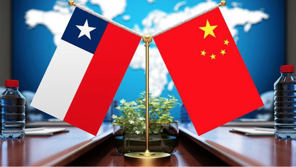 china y chile banderas